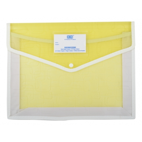 Transparent Button File Light Yellow
