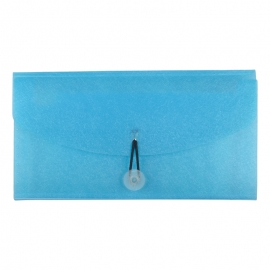 Cheque Book Folder Blue